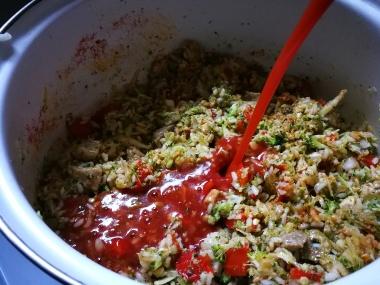 Dodati sok od paradajza na kraju